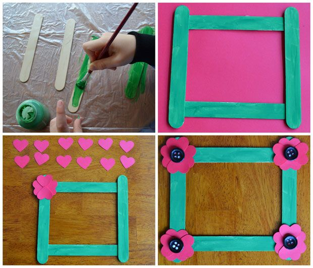 32 best images about popsicle stick frames on pinterest for Picture frames for crafts