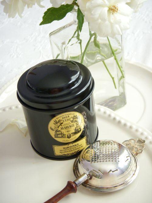 L'heure du thé avec Mariage Frères.                                                                                                                                                      Plus
