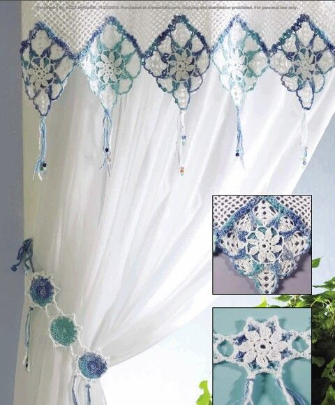 firanka / zazdroska / szydełko // Inspiration .... Crochet for Curtain