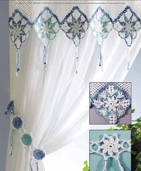 firanka / zazdroska / szydełko // Inspiration .... Crochet for Curtain