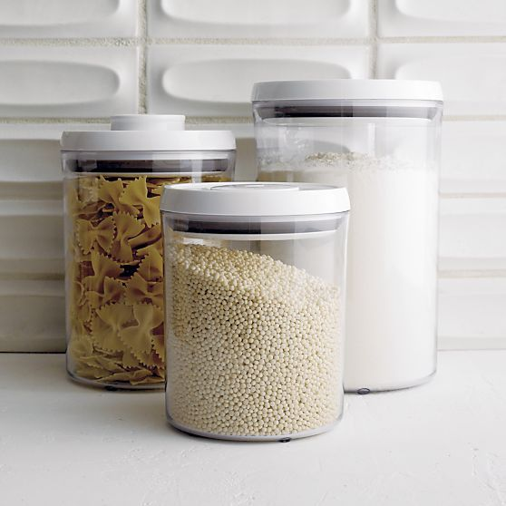 3-Piece OXO® Pop Round Containers with Lids Set in Food Storage | Crate and Barrel