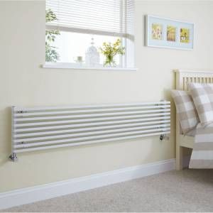 This luxury white Cayos radiator is great for bedrooms.