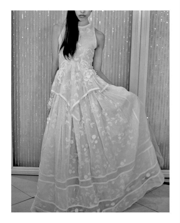 My cotton organza wedding dress. #couture #diywedding #weddingdress #chic #elegant #romanticdress #boho #embroidery #halterneck #bride