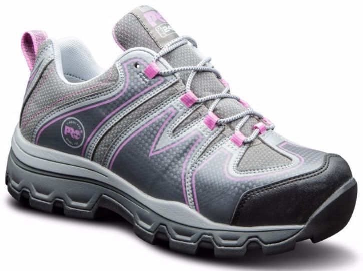 Timberland Women'S Rockscape Steel Safety Toe Work Shoes Grey/Pink Tb0A11Ps065