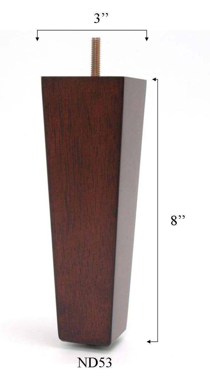 8 pyramid tapered furniture leg set of 4