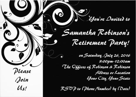 23 best work party invitations images on Pinterest Retirement