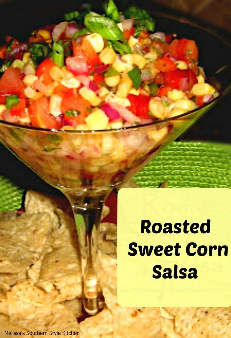 Roasted Sweet Corn Salsa - Roasted corn makes the most super sweet and delicious topping for sprinkling on salads, tacos, or even on a hot dog as a relish. Dipping with tortilla chips works well. too.