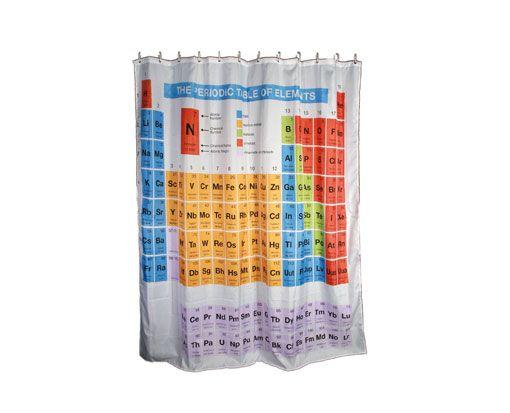 #Cortina de ducha tabla periodica de los elementos a un precio de 11,74€. Todo un giño a los amantes de la serie Big Bang Theory. Calidad y precio. ECI