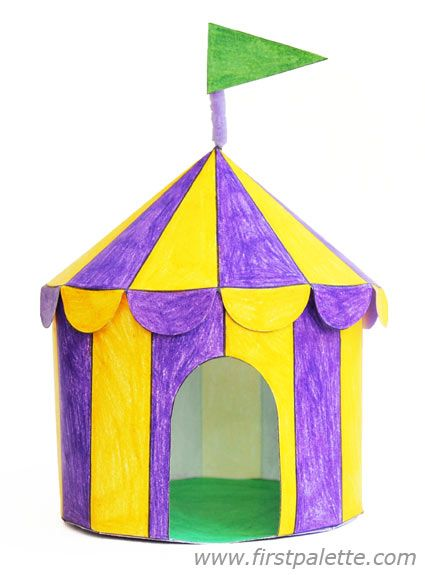 Step 8 Paper Circus Tent craft