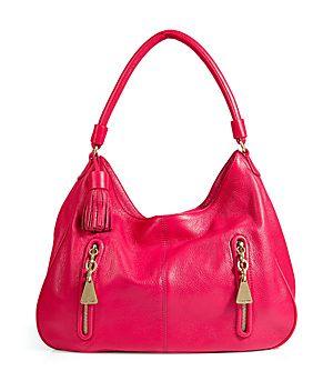 Korallenrote Hobo-Bag aus Kuhleder von See by Chloé #Stylebop