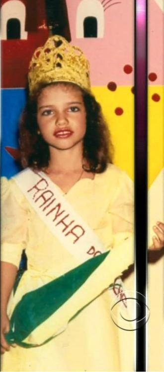 Brazilian supermodel Adriana Lima when she was younger