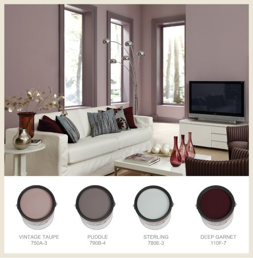 mauve gray color | Classic mauve, used here with shades of gray and burgundy.