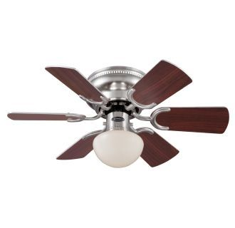 """View the Westinghouse 7800500 Petite 30"""" 6 Blade Hugger Indoor Ceiling Fan with Blades and Light Kit Included at LightingDirect.com."""
