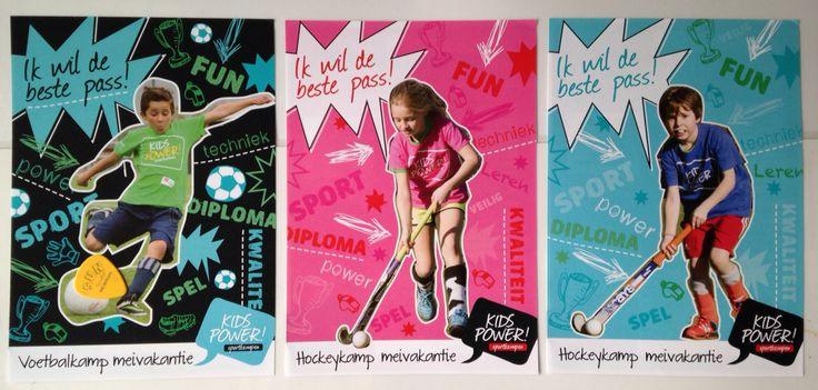 Ontwerp serie flyers voor Kidspower door Matthja Grafisch Ontwerp - matthja.nl