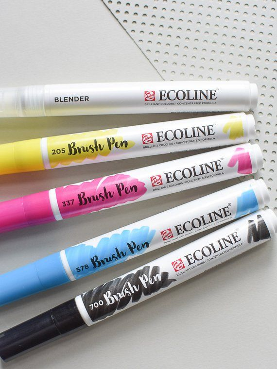 Ecoline Brush Pens Ecoline Ecoline Pens Watercolor Pens Brush