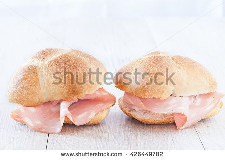 Buns with italian mortadella, the ideal healthy snack.