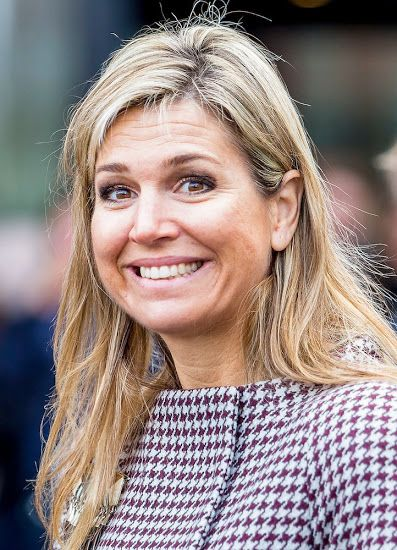 Dutch Queen Maxima attends a seminar in the Hague