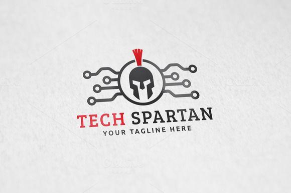 Tech Spartan Logo Template by Martin-Jamez on Creative Market