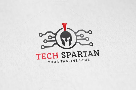 Tech Spartan Logo Template by Martin-Jamez on Creative Market