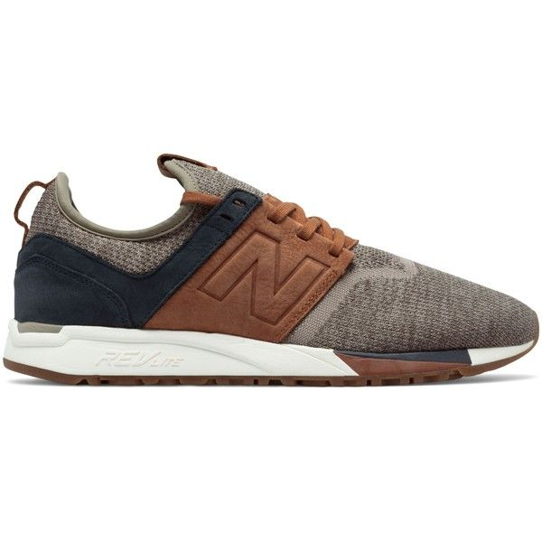 New Balance 247 Luxe Men's Sport Style Shoes ($120) ❤ liked on Polyvore featuring men's fashion, men's shoes, brown, mens shoes, mens sport shoes, mens brown shoes, mens nubuck shoes and new balance mens shoes