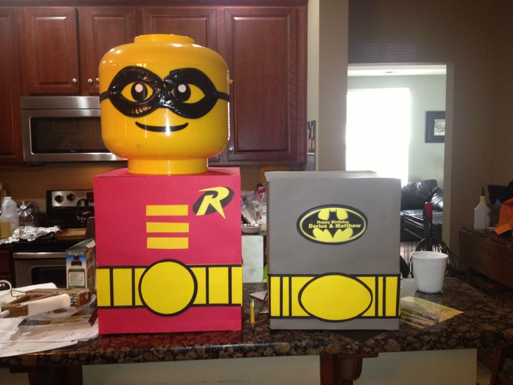 Lego batman party decoration darius bday ideas for Decoration lego