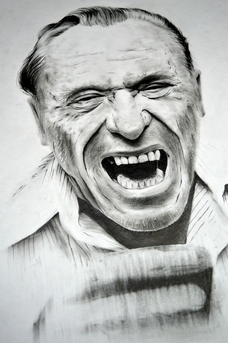 Charles Bukowski Dibujo a lápiz sobre papel A3 240grs.