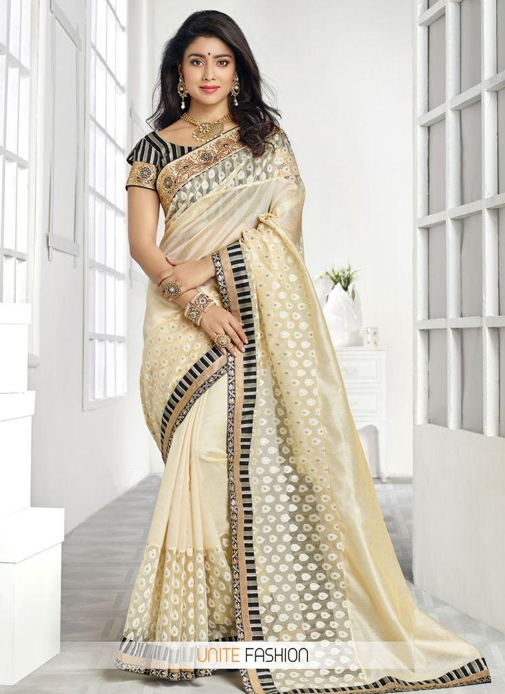 entrancing-banarasi-silk-lace-cream-and-off-white-designer-contemporary-style -saree-