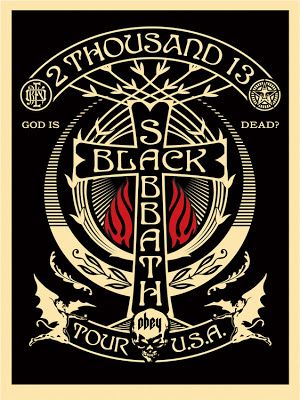 Shepard Fairey ~ Black Sabbath Classic heavy metal rock psychedelic music poster ☮~ღ~*~*✿⊱ レ o √ 乇 !! ~