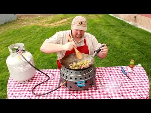 Portable Grill - How to use a Wok with the Volcano Grill - YouTube