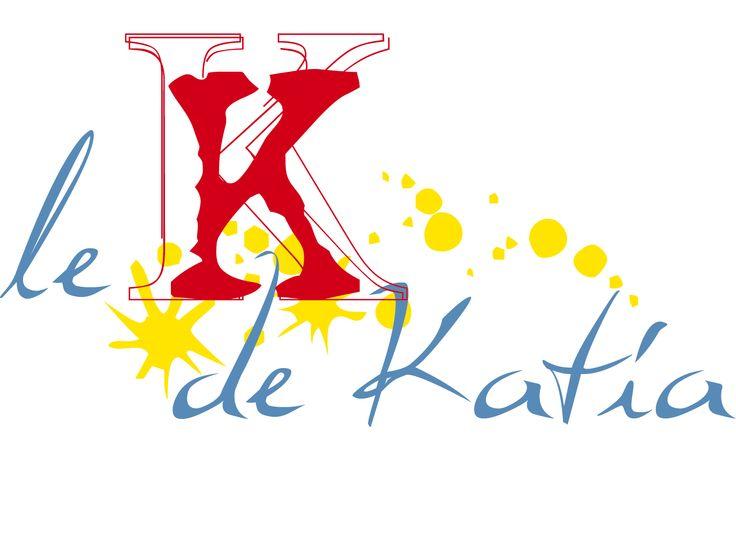 Le K de Katia : projet de logo pour une créatrice de vêtements.