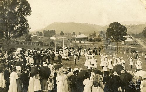 Empire Day celebrations?] G. Kelly Photo Dungog, NSW. [1909]