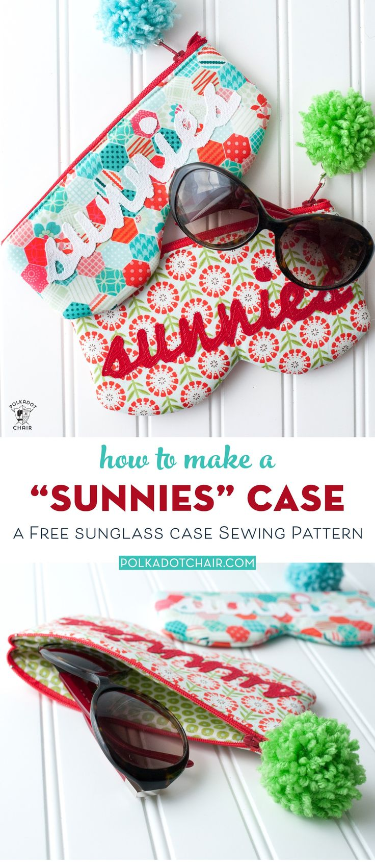 """""""Sunnies"""" Glasses Case Sewing Pattern"""