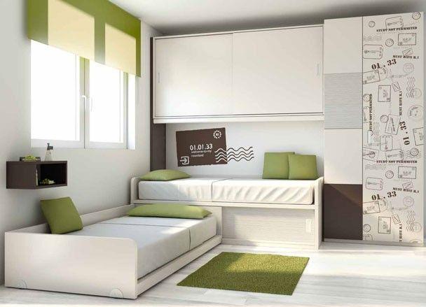 Las 25 mejores ideas sobre camas cuchetas en pinterest - Dormitorios dobles juveniles ...