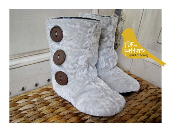 HighTop Boots PDF INSTANT DOWNLOAD Sewing by twirlybirdpatterns