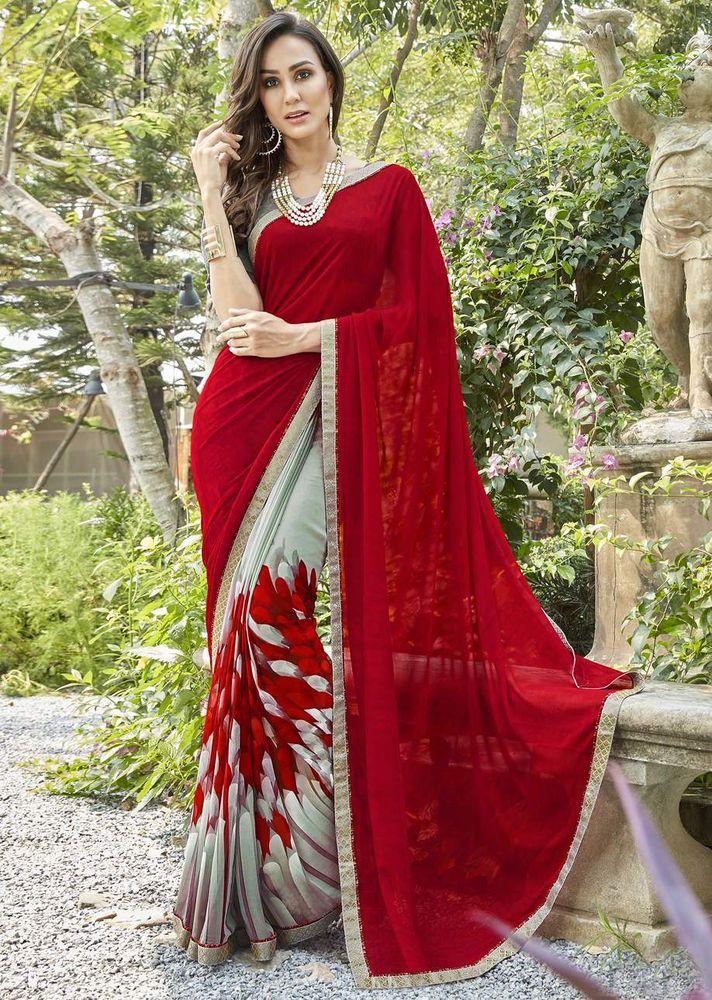 c209747175 Indian Women New Latest Designer Daily Wear Ethnic Printed Saree Sari Blouse  #Sareeswag #DesignerSaree