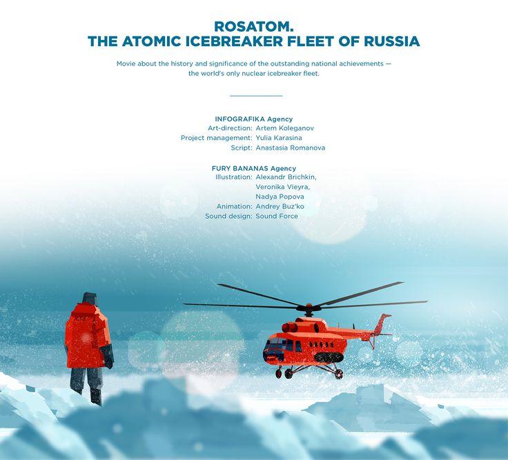 Rosatom. The atomic icebreaker fleet of Russia on Behance