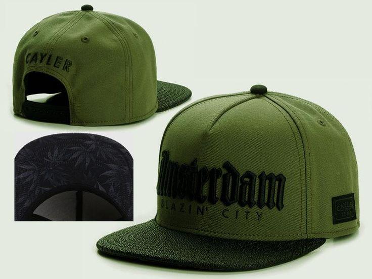 Men's Cayler & Sons C & S WL Amsterdam Blazin' City Snapback Hat - Army Green