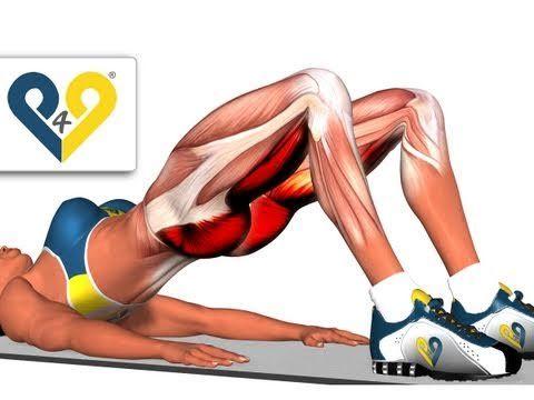 Aumentar bumbum: Quatro apoios lateral com a perna estendida - YouTube