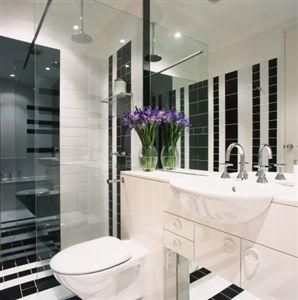 Black and white bathroom ideas black and white tile bathroom with purple accent white tile Purple and black bathroom ideas