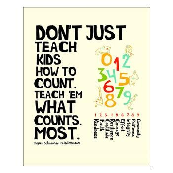 Don't Just Teach Kids How To Count Poster