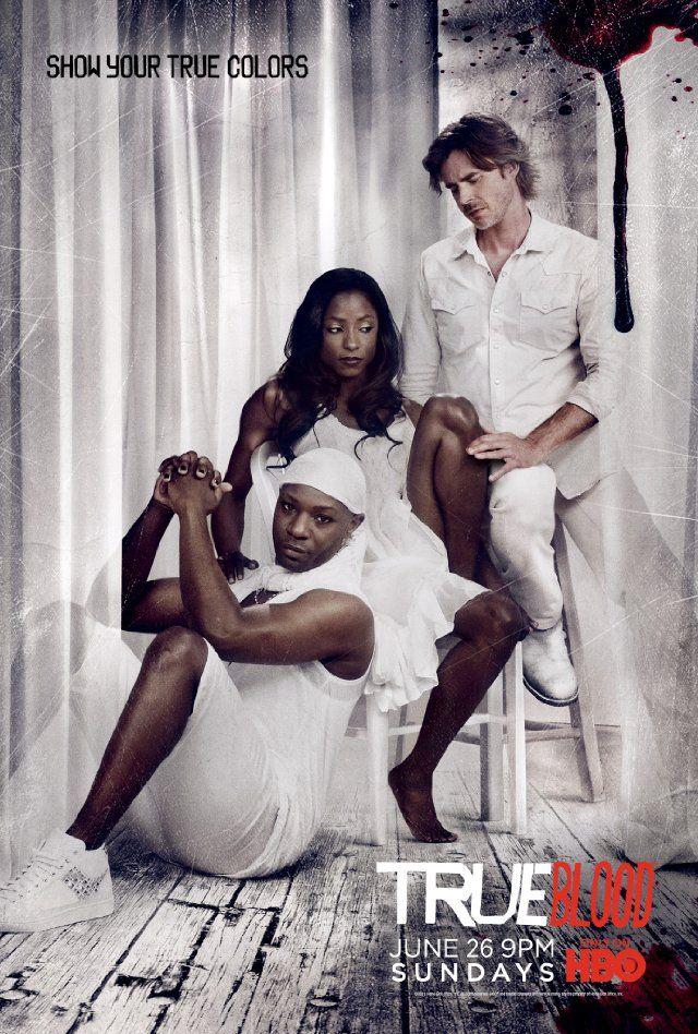 Still of Sam Trammell, Nelsan Ellis and Rutina Wesley in True Blood