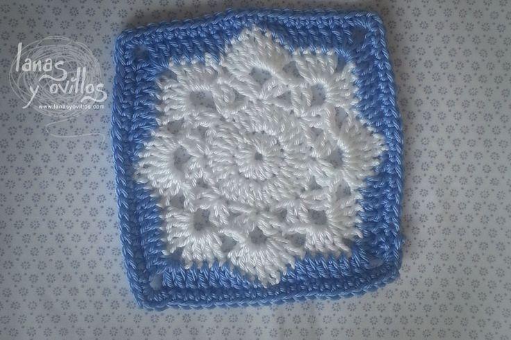Tutorial Snowflake Granny Square (+lista de reproducción)