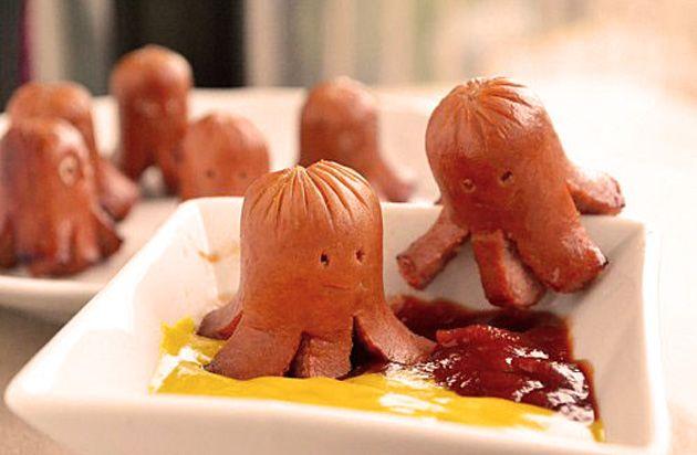 fun-funny-recipes-hot-dogs-sausages-for-kids-children-recetas-divertidas-con-salchichas-para-niños