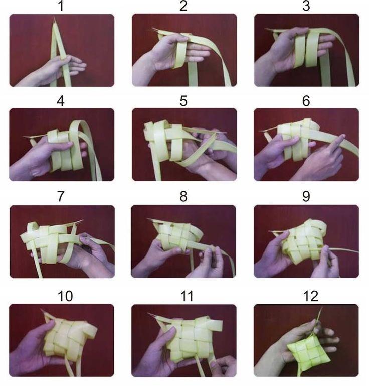 how to make ketupat ( for Idul Fitri, Indonesia Moeslem celebration)