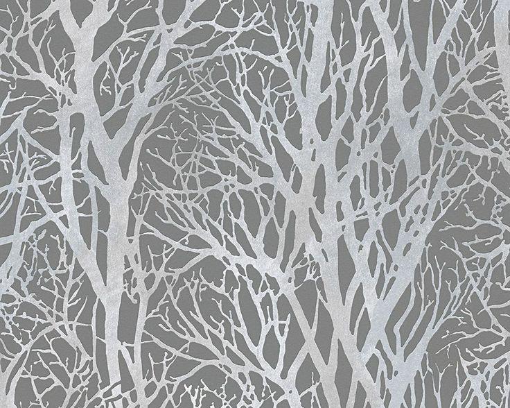 Tree Branch Twig 30094 3 Grey Silver Forest Wallpaper   eBay