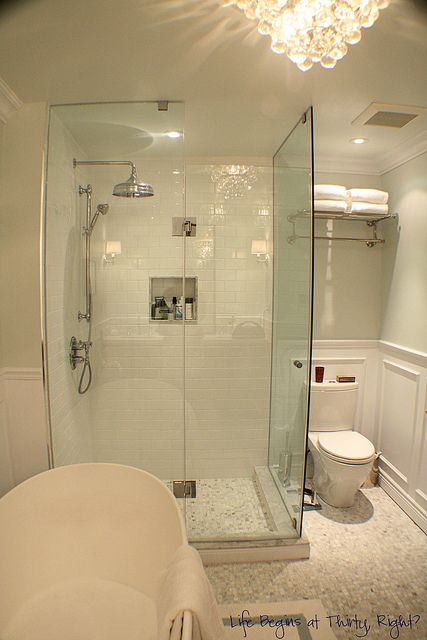 I think this has a similar shower and toilet config as the space now (our vanity would be where the tub is in this picture)