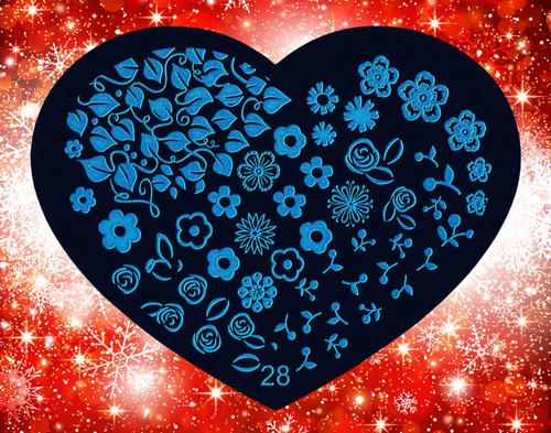 Nails - NAIL ART IMAGE STAMPING PLATE (HEART-SERIES) for sale in Virginia (ID:217271072)
