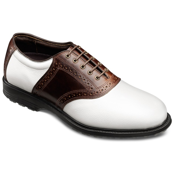 Jack Nicklaus #MuirfieldVillage #Golf Shoes in White Grain Leather/Brown  Leather, $195