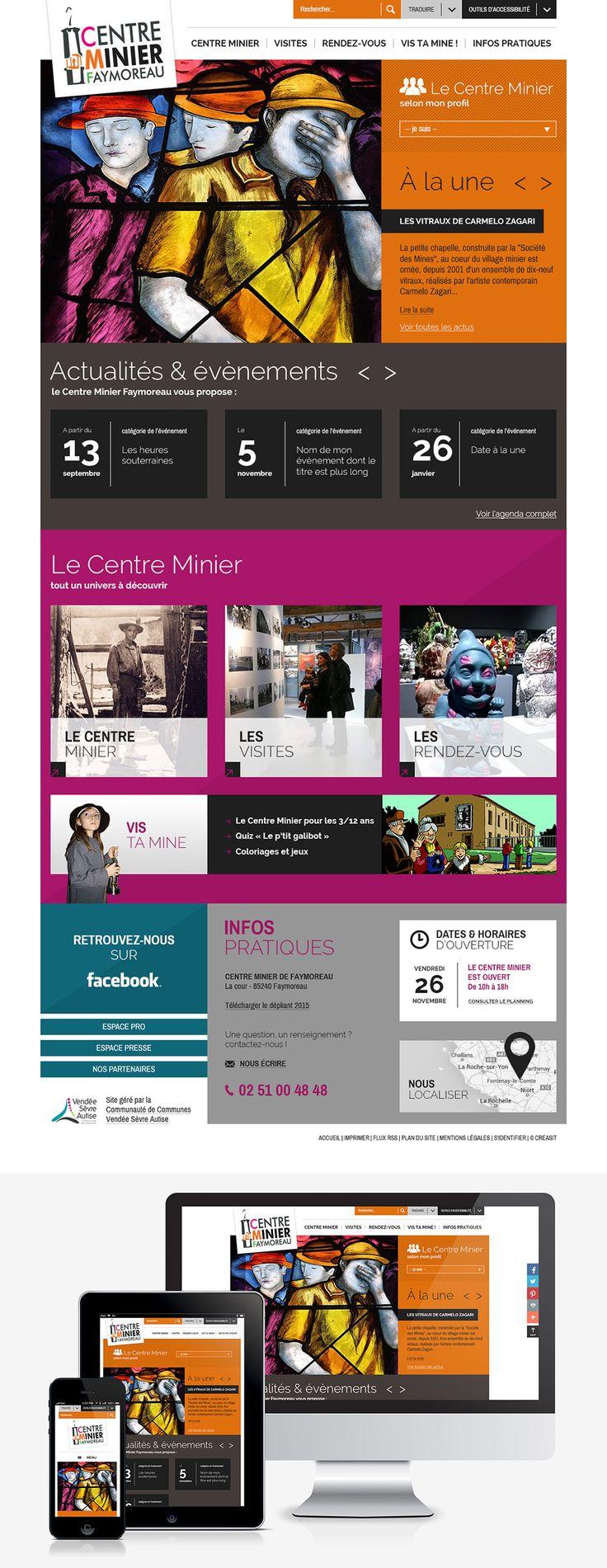 #Webdesign #Responsive #Tourisme : création du site internet du Centre Minier de Faymoreau en Vendée (85) www.centreminier-vendee.fr by @elysta44