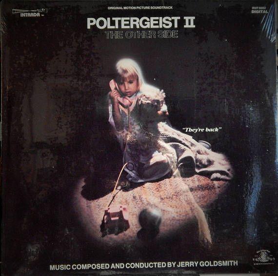 """Poltergeist II  12"""" Vinyl Lp Original Soundtrack (1986 music Jerry Goldsmith) JoBeth Williams, Craig T Nelson, Heatgher O'Rourke"""